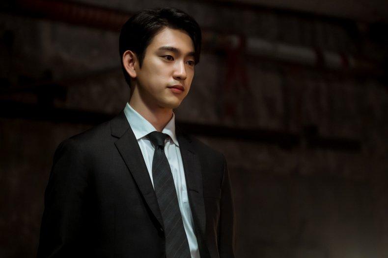 "Jinyoung in ""The Devil Judge"" K-drama."