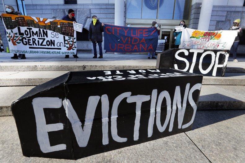 Eviction protestors