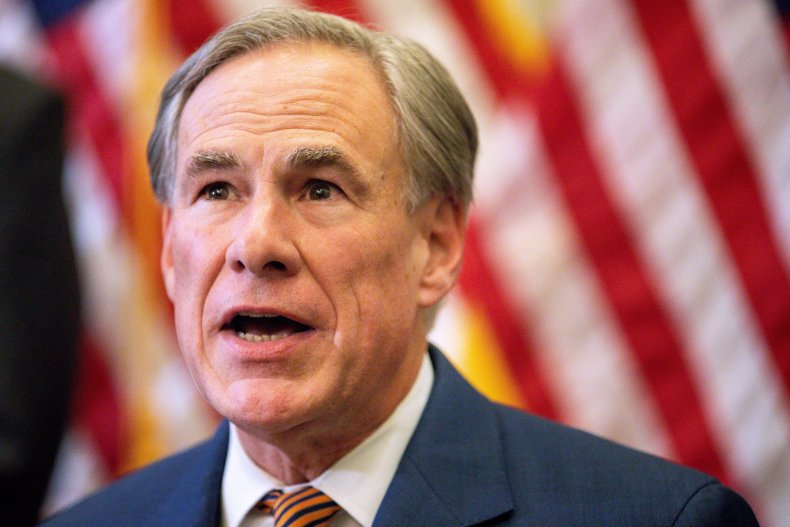 Greg Abbott Speaks During a Press Conference