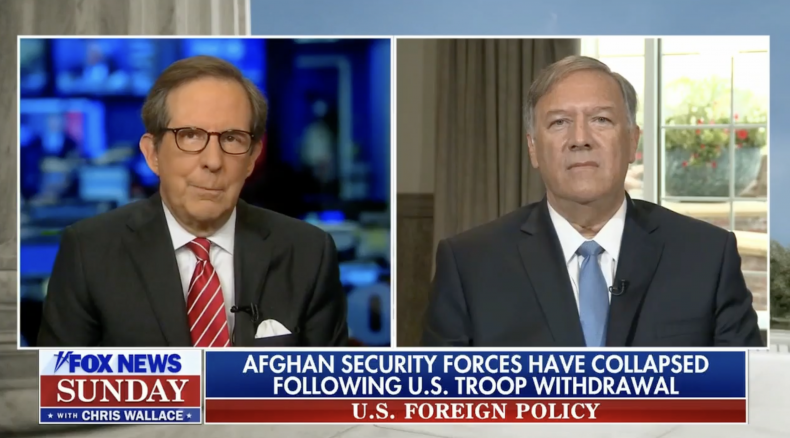 Chris Wallace and Mike Pompeo