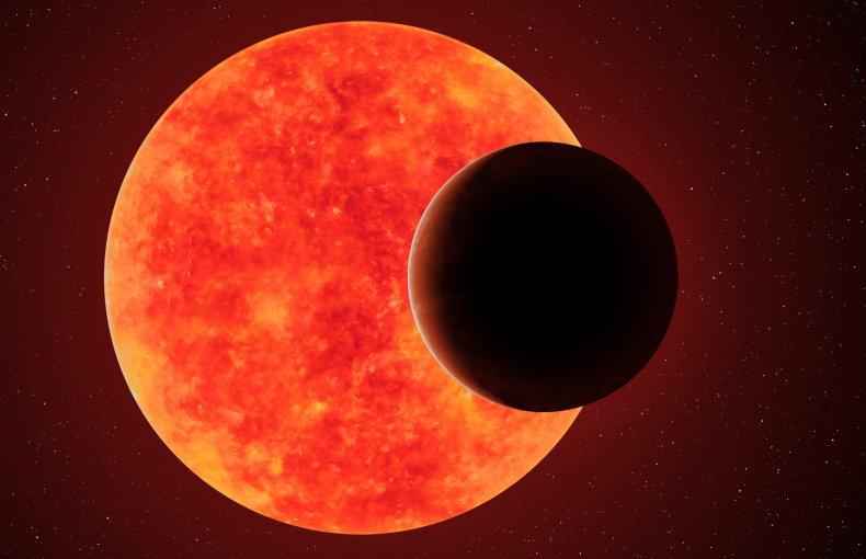 Planet orbiting red dwarf