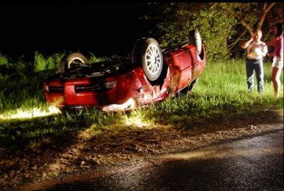 Photo of Abby Burchs car crash.