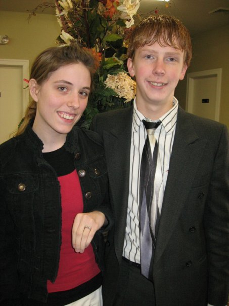 Abby and Allen Burch getting engaged.