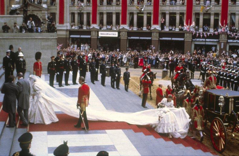 Princess Diana's Wedding Train