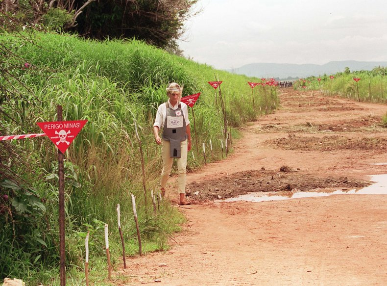 Princess Diana in Landmine Field