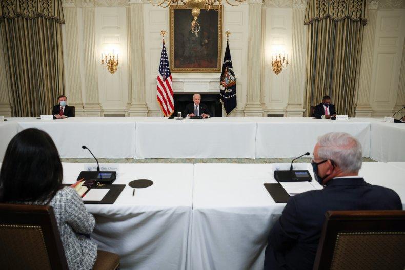 Biden, meet, Cuban, American, leaders