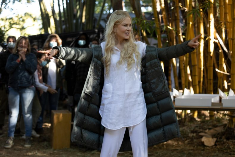 Nicole Kidman on Nine Perfect Strangers set