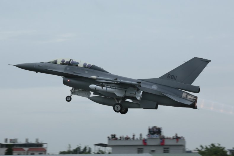 Taiwan Air Force Jet In Military Drills