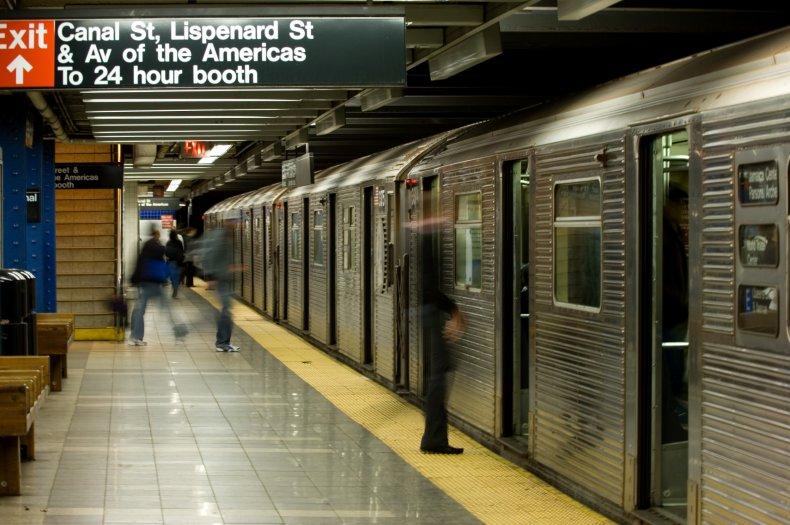 A New York subway station.