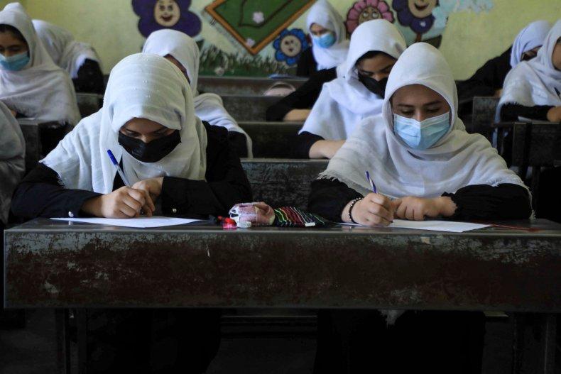 Girls Attend Class in Herat, Afghanistan