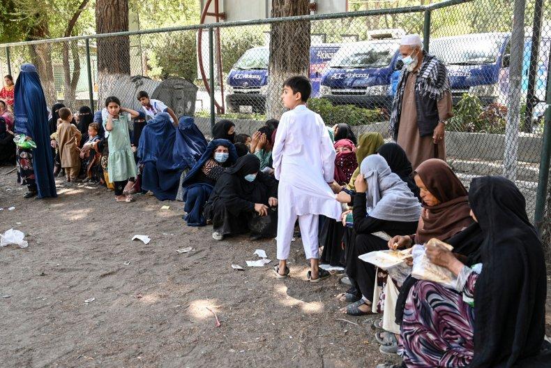 displaced Afghan families Kabul