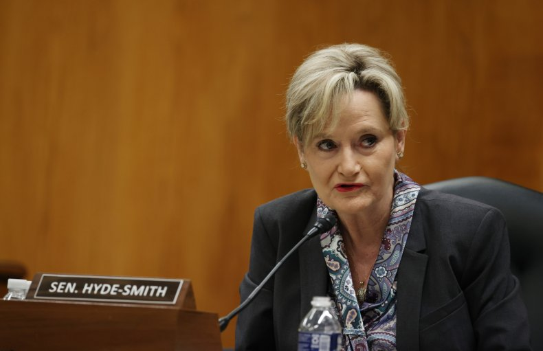 Cindy Hyde-Smith Attends a Senate Hearing