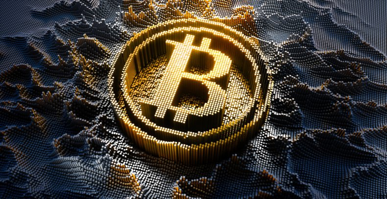 A picture of the bitcoin symbol