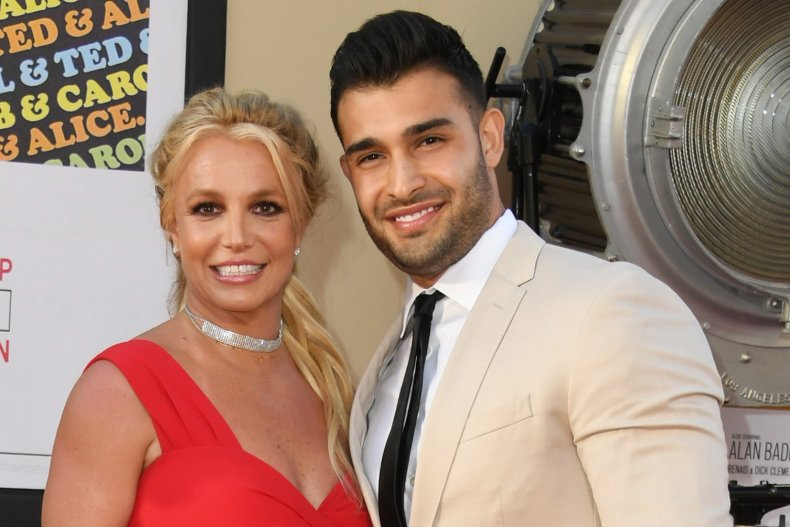 Britney Spears and partner Sam Asghari