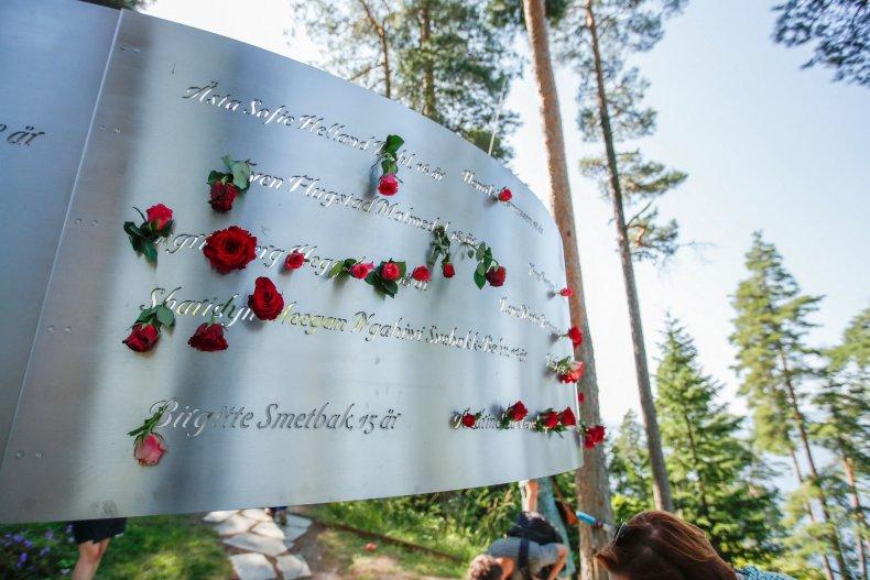 Utoya, Norway memorial on 22 July 2021