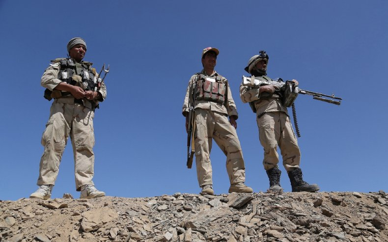 Afghan security forces seen in 2013.