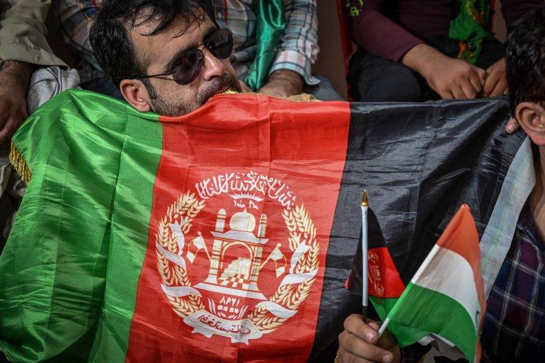 Afghanistan flag protests