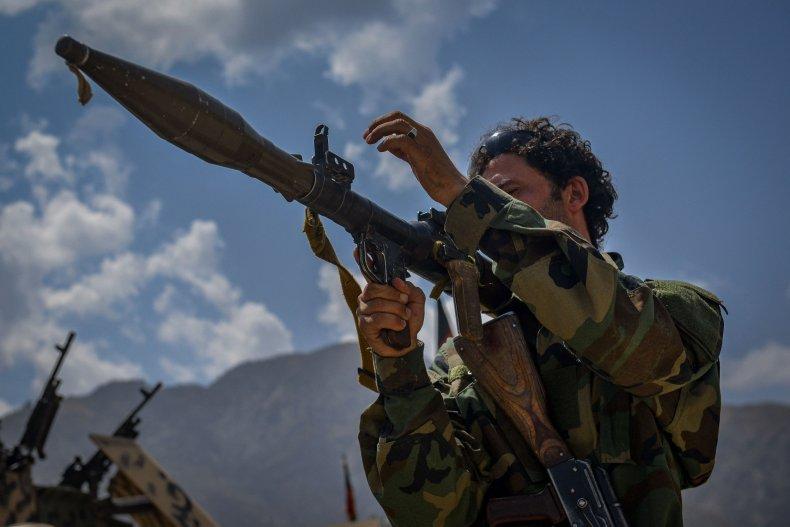 An Afghan armed man