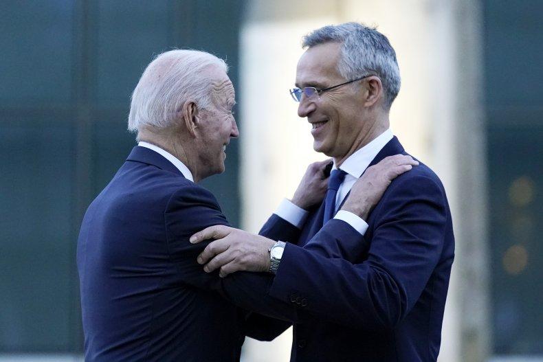 Biden and Stoltenberg meeting