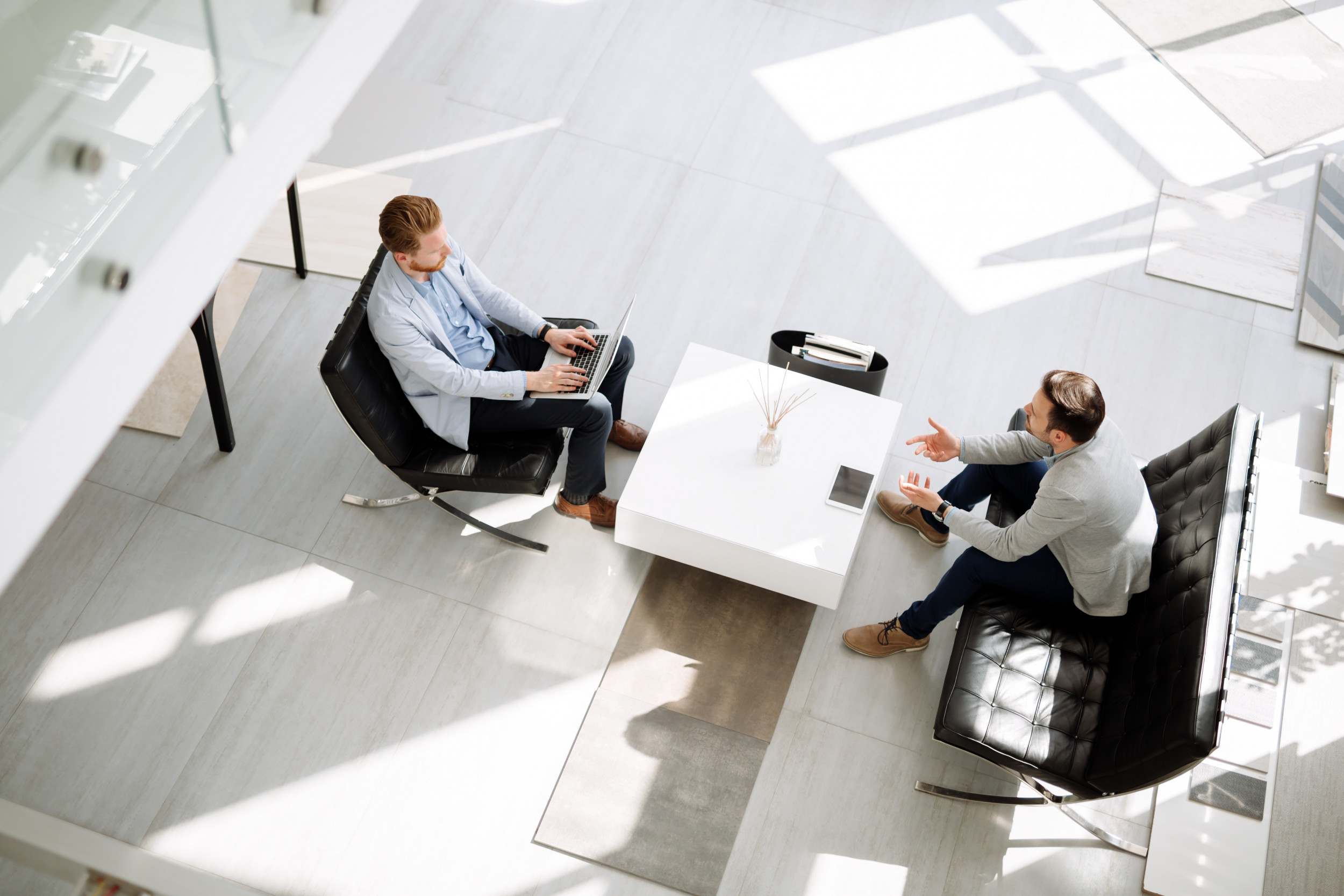 Business people discussing ideas