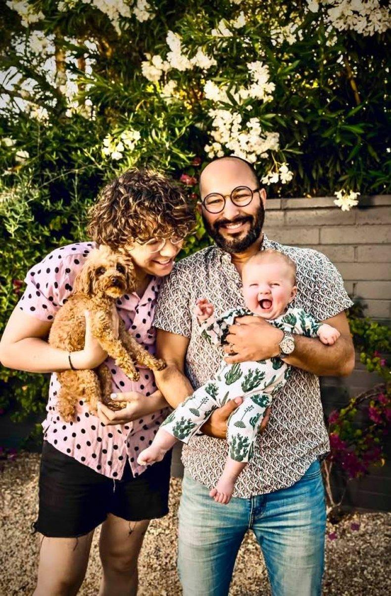 Fran Benjamin with Jason and Dora