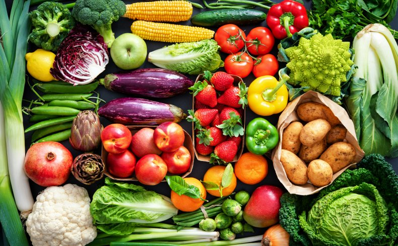 A selection of healthy foods