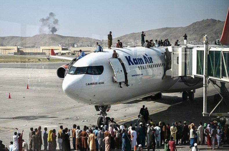 Afghanistan Airport Kabul Plane Evacuation Taliban