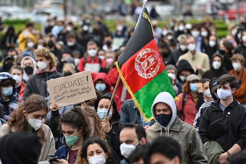 Protest Afghanistan Berlin Germany Taliban Evacuation