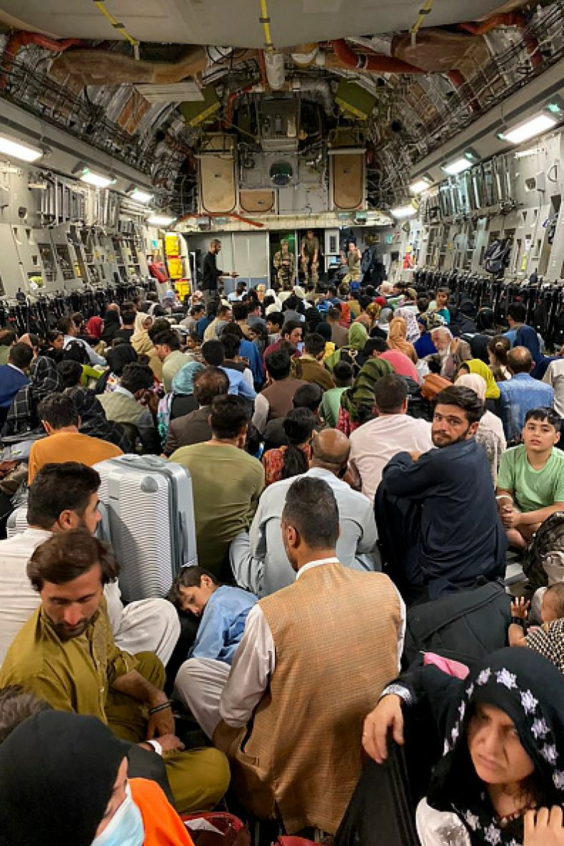 Afghan US Military Plane Evacuation Kabul Afghanistan
