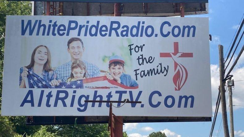 White Pride Radio sign