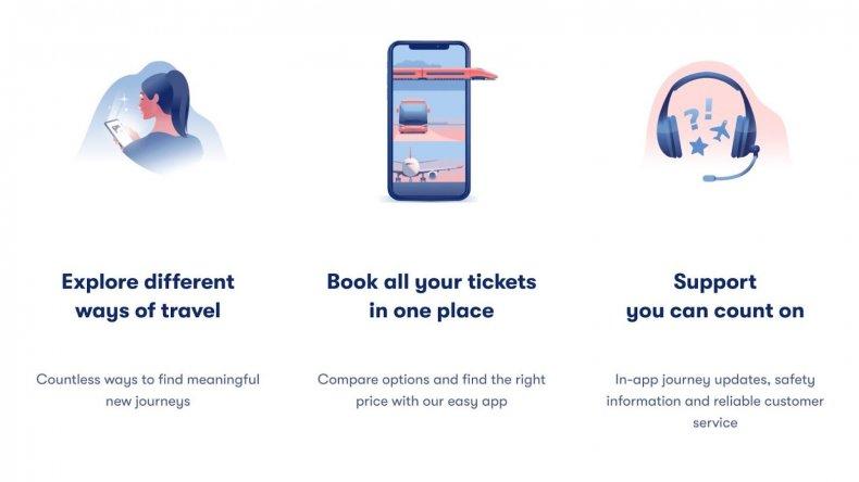 Omio travel website