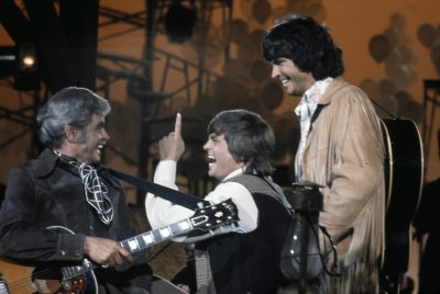 Don and Phil  Everly with their father.