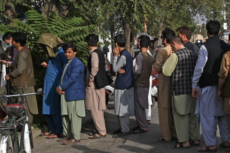 ATM Line in Kabul