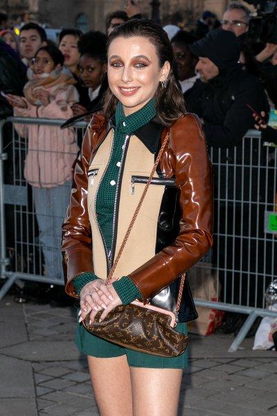 Emma Chamberlain attends Paris Fashion Week