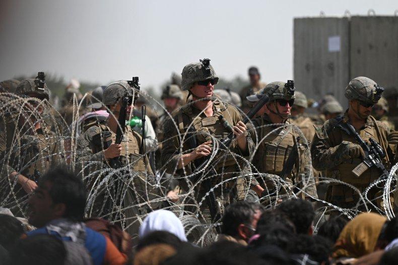 US troops at Kabul airport Afghanistan evacuation