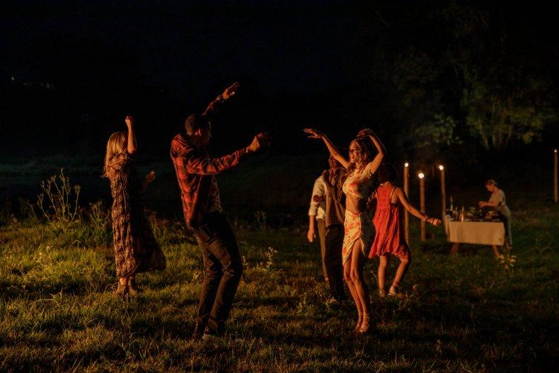 Nine Perfect Strangers dancing