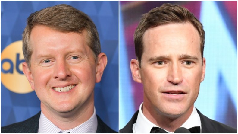 """Jeopardy!"" stars Ken Jennings and Mike Richards"