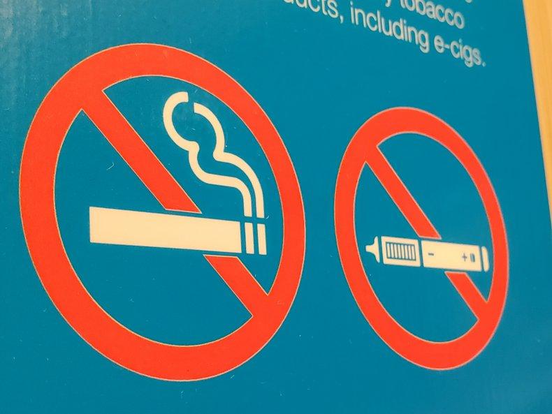 No Smoking and No Vaping sign