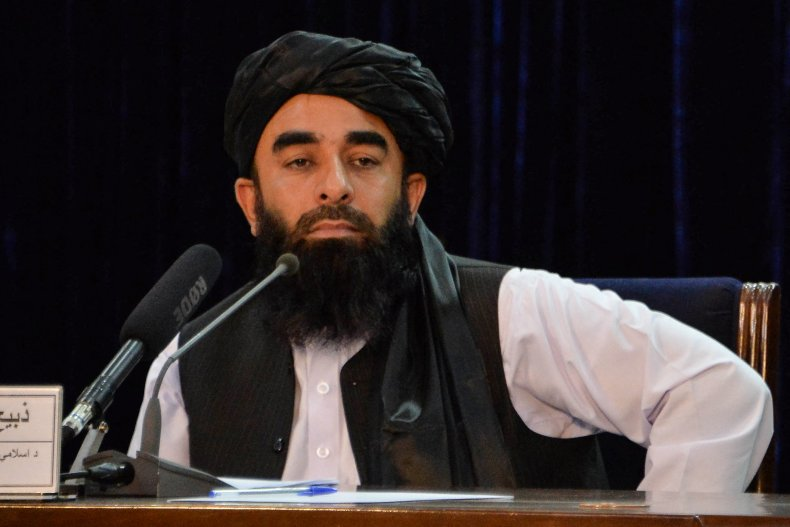 Taliban spokesperson during news conference