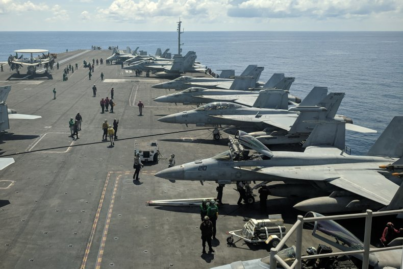 US aircraft carrier in Pacific