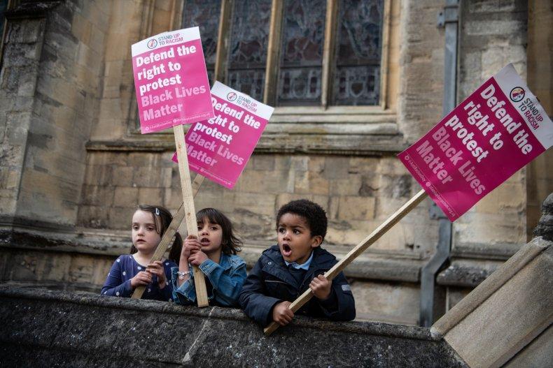 """Children Hold """"Black Lives Matter"""" Signs"""