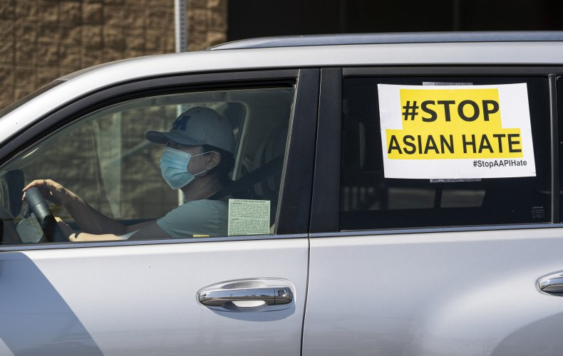 """""""#Stop Asian Hate"""" Sign on Car"""