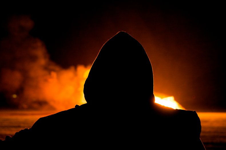 Stock photo of an arsonist