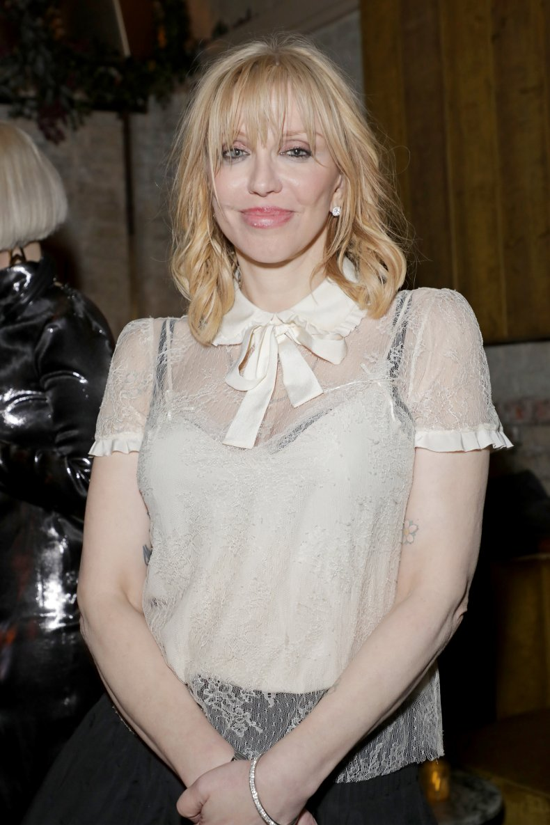 Courtney Love at a Brit Awards party.