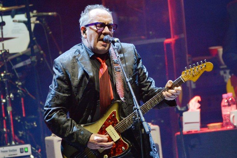 Elvis Costello performs in London, U.K.