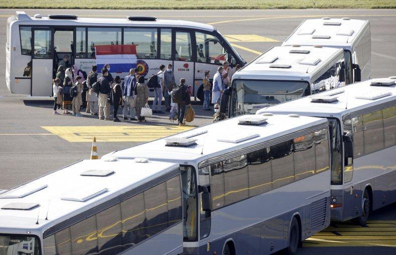 Afghan Evacuees Arrive in Belgium