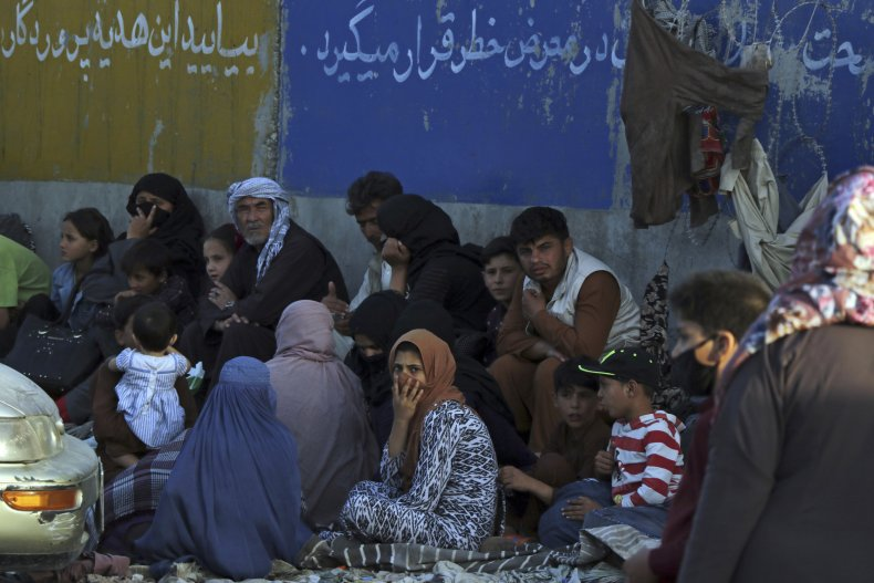 Afghans Wait to Be Eavcuated