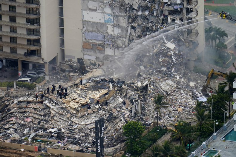 Rubble of Collapsed Condo in Surfside, Florida