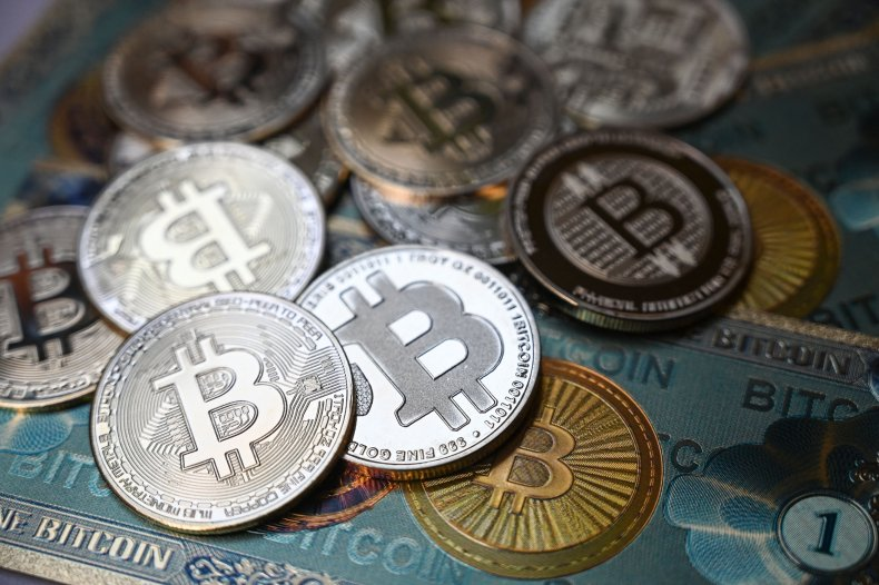 Physical banknote and coin imitations of bitcoin