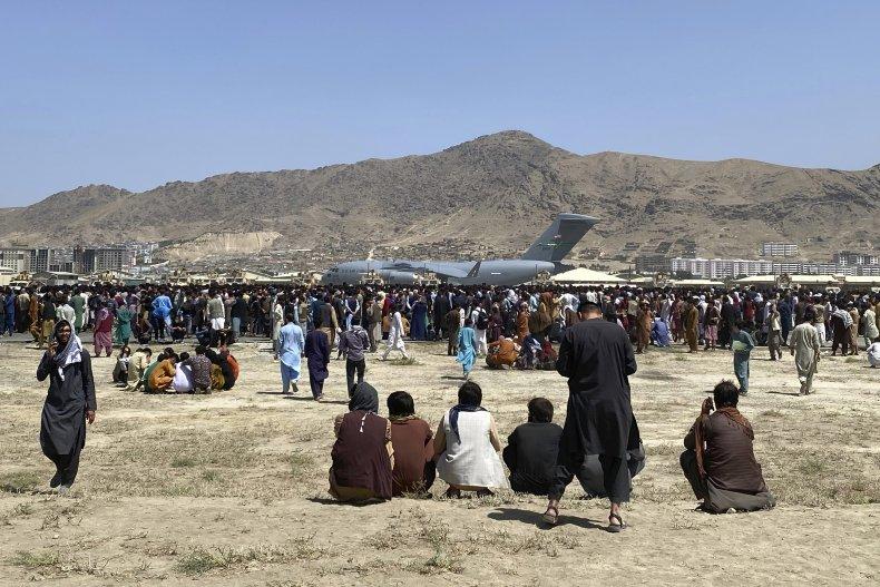 Afghans wait for evacuation